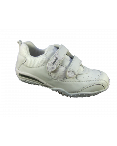 Superfit Kriss Plain White Leather Trainer