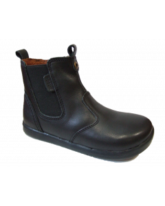 Bobux Kid+Ranch Black Leather School Boots