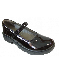Geox Casey Black Patent Mary Jane Style School Shoes