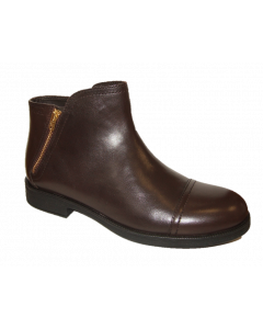Geox Agata Brown Leather Ankle Boots