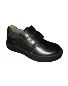 Geox Riddock Black Leather School Shoes