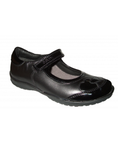 Geox Shadow Black Leather School Shoes