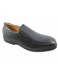 Geox Federico Black Leather Slip-on School Shoes