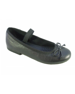Geox Plie Black Leather School Shoes