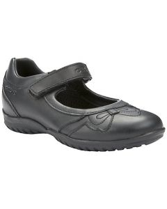 Geox Shadow Black School Shoes