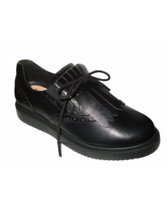 Geox Thymar Black Slip-On School Shoes