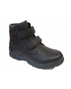 Geox William Black Leather Boots