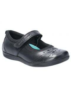 Hush Puppies Amber Black Leather School Shoes