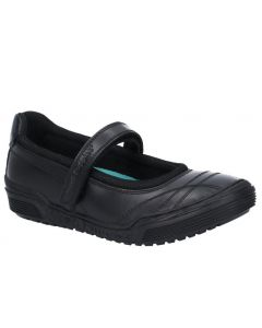 Hush Puppies Amelia Black Leather School Shoes