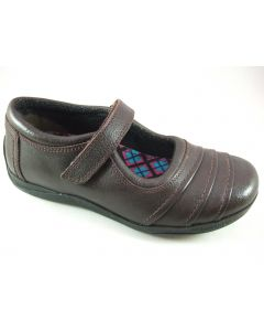 Hush Puppies Dawnstar Brown Leather School Shoes