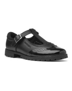 Hush Puppies Maisie Junior Black Leather School Shoes