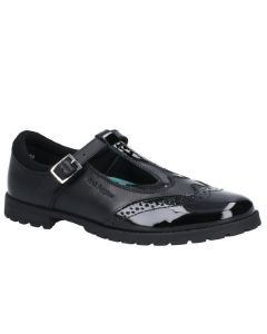 Hush Puppies Maisie Senior Black Leather School Shoes