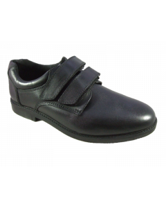 Hush Puppies Matt Black Leather School Shoes