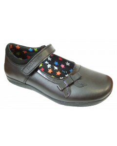 Hush Puppy Ruth Girls Mary-Jane Style School Shoes