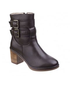 Hush Puppies Saige Olivya Leather Ankle Boots