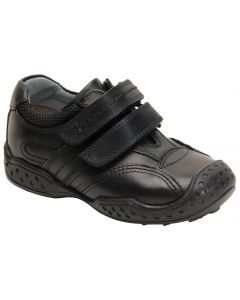 Hush Puppies Weelie Black Leather School Shoes