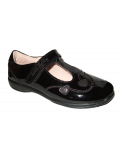 Lelli Kelly Chloe Black Leather School Shoes