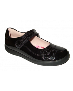 Lelli Kelly Leora Black Leather School Shoes