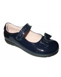 "Lelli Kelly Perrie Navy Patent Shoes ""G"" Width"