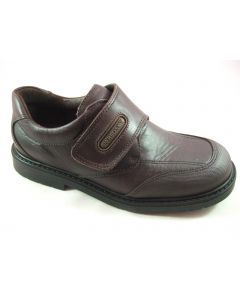Pablosky Natural Brown Leather School Shoes