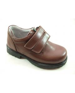 Petasil Billy Brown Leather School Shoes