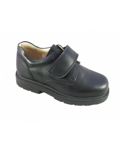 Petasil Ollie 'G' Width Boys Black Leather School Shoes