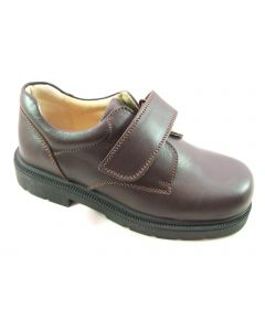 Petasil Ollie 'G' Width Boys Brown Leather School Shoes
