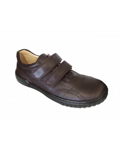 Petasil Veejay Brown Leather School Shoes
