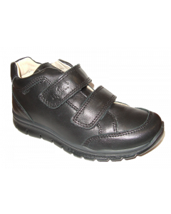 Primigi Hylos Black Leather School Shoes