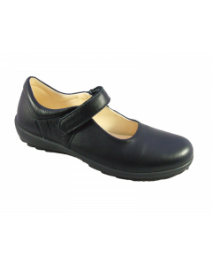 Primigi Olea Black Leather School Shoes