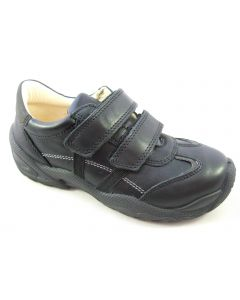 Primigi Ten Black Leather School Shoes