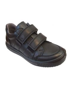Ricosta Ethan Black Leather School Shoes