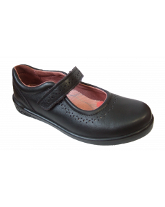 Ricosta Lillia Black Leather School Shoes