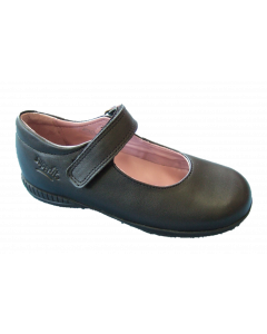 Superfit Nelly Black Leather School Shoes