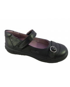 Superfit Victoria Black Leather School Shoes
